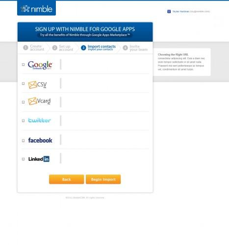 Importare i contatti da Google