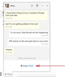 End chat-Agent side