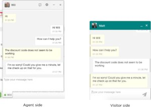Live chat window- New user experience