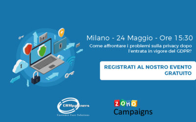 GDPR Privacy e Campagne Marketing: Come Risolvere i Problemi di Privacy con Zoho Campaigns