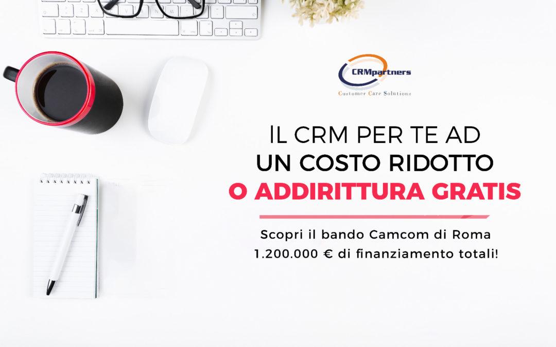 Per le Aziende di Roma e del Lazio il CRM è quasi gratis (ma solo per i più smart e rapidi!)
