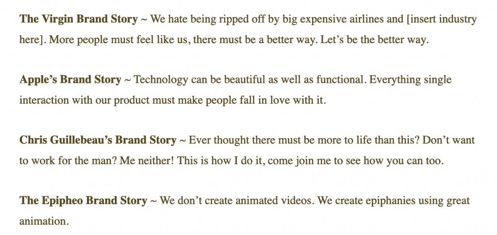Ecco le storie di alcuni dei brand più famosi. Quale è la tua storia? cosa racconti ai nuovi clienti?