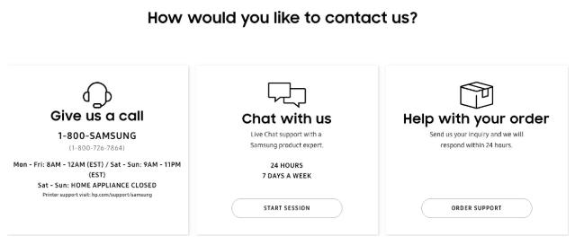 Il supporto multicanale offerto da Samsung ai propri clienti