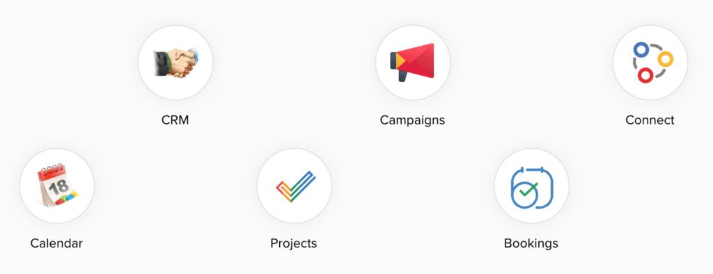 Zoho Meeting è integrato con Zoho CRM, Zoho Projects e Zoho Bookings e molte altre applicazioni