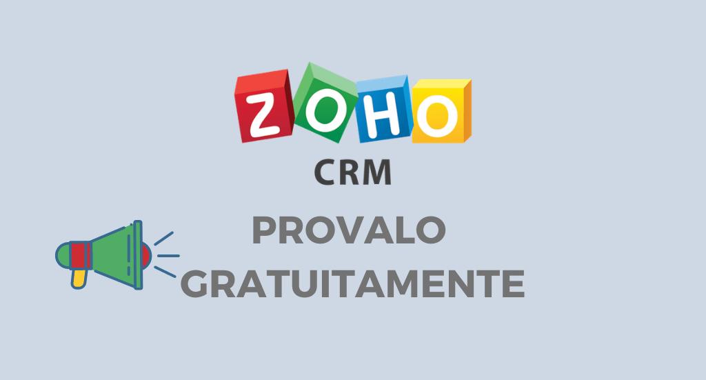 PROVA GRATUITAMENTE ZOHO CRM