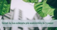 Sostenibilità: rendi la tua azienda più sostenibile in 5 passi
